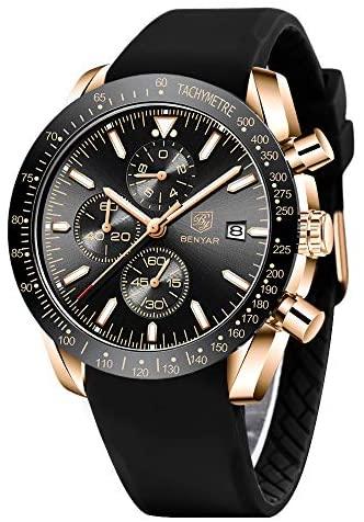 BENYAR - Stylish Wrist Watch for Men, Genuine Sil...