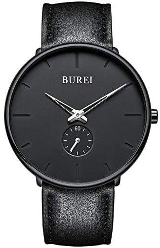 BUREI Men's Fashion Minimalist Wrist Quartz Watch...