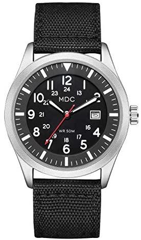 Black Military Analog Wrist Watch for Men, Mens A...