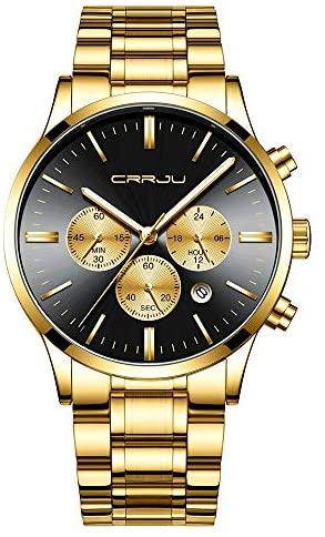CRRJU Men's Multifunctional Chronograph Wristwatc...
