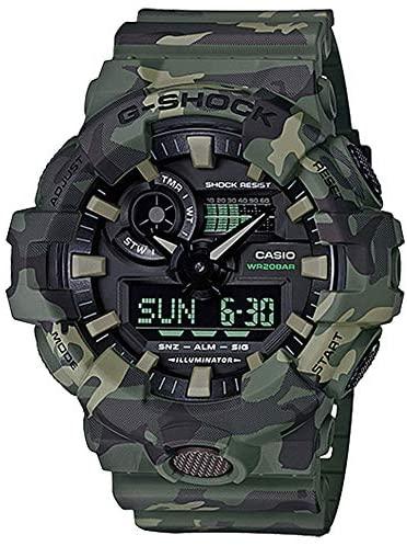 Casio G-Shock GA700CM Series Camo Wrist Watch (Me...