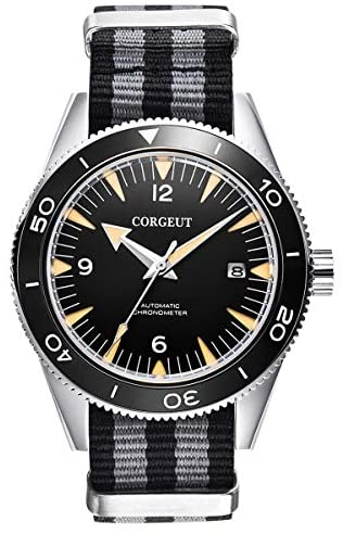 Corgeut Mens Watches Automatic Stainless Steel An...