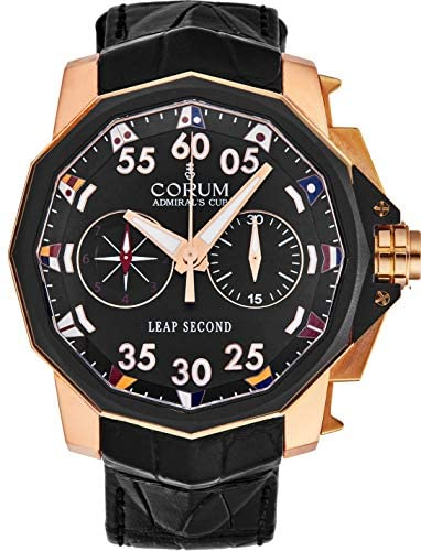Corum Admiral's Cup Mens 18K Rose Gold Leap Secon...