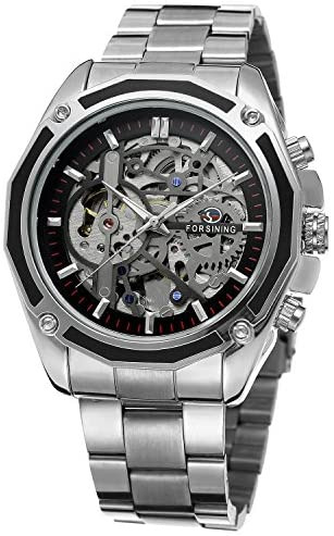 FORSINING Men's Branded Automatic Chinese Movt St...