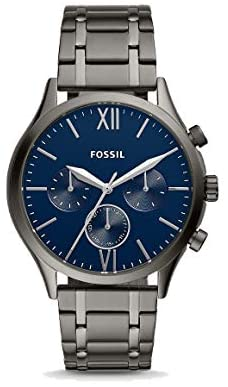 Fossil Fenmore Midsize Multifunction Smoke Stainl...