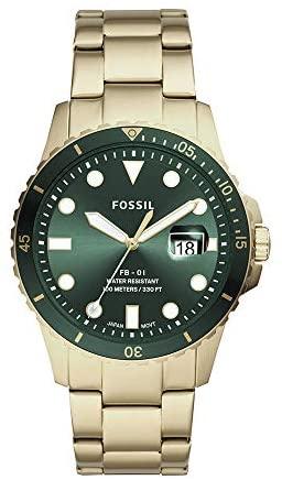 Fossil Men's FB-01 Stainless Steel Casual Quartz ...