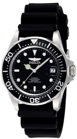 Invicta Men's Pro Diver Black Dial Black Polyuret...