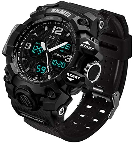 Men's Analog Sports Watch, LED Military Wrist Wat...