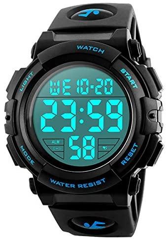 Men's Digital Sports Watch, 50M Waterproof Led Sc...