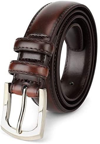 Men's Dress Belt 'ALL GENUINE LEATHER' Stitching ...