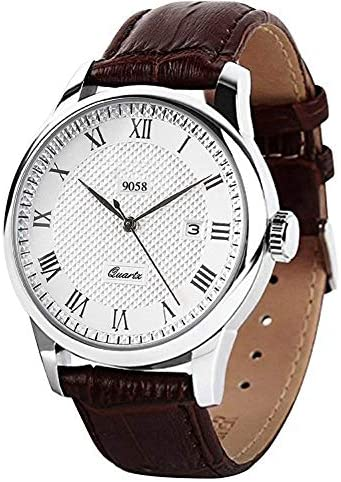 Men's Quartz Wrist Watch, Waterproof Roman Numera...