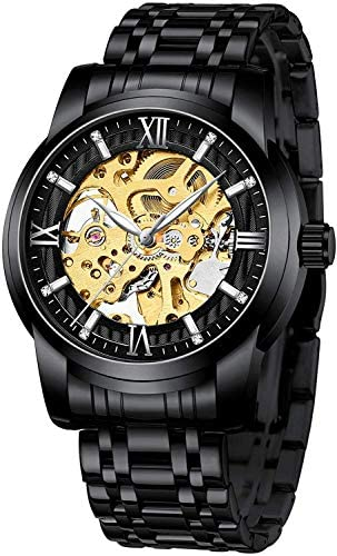 Mens Watches Mechanical Automatic Self-Winding St...