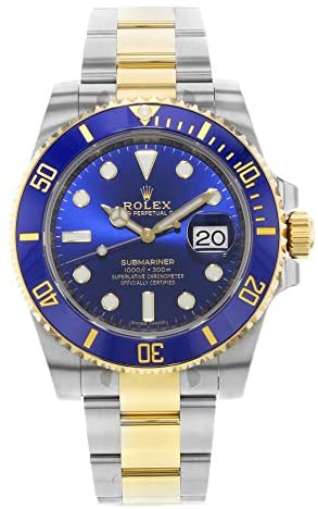 Rolex Submariner Blue Dial Stainless Steel and 18...