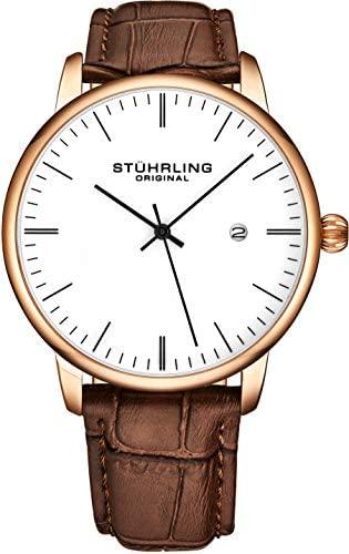 Stuhrling Original Mens Watch Calfskin Leather St...