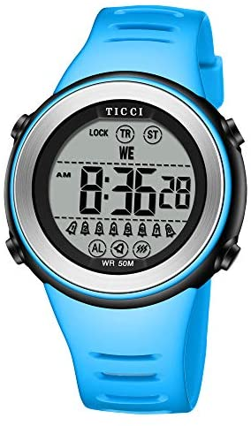 TICCI Men Women Unisex 8 Vibrating Alarms Watch M...