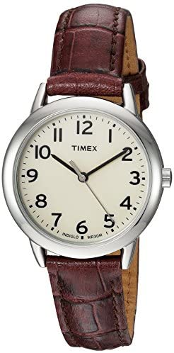 Timex Women's Easy Reader Leather Strap 30mm Watc...