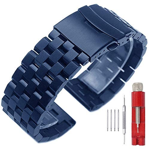 24mm 22mm 20mm 18mm Metal Watch Band Premium Soli...
