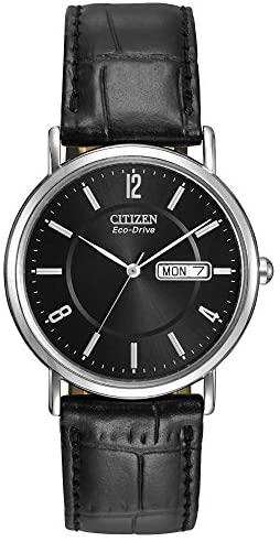 Citizen Watches BM8240-03E Eco-Drive Leather Watc...