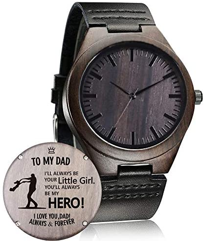 Customized Engraved Wooden Watch, Casual Handmade...