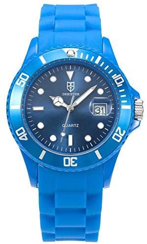 DR8990 Silicone Strap Plastic Quartz Watch Studen...