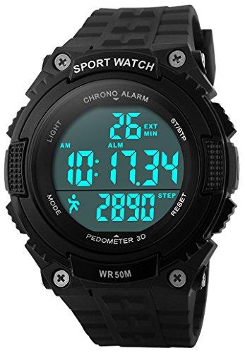 Fanmis Unisex Pedometer Watches Military Multifun...