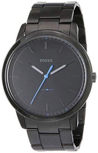 Fossil Men's Minimalist Stainless Steel Slim Casu...