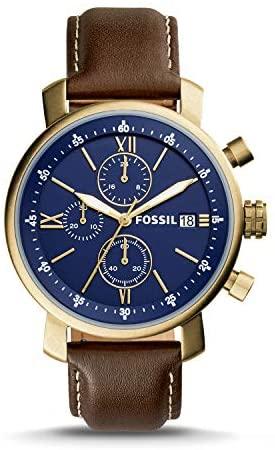 Fossil Rhett Chronograph Brown Leather Watch BQ20...