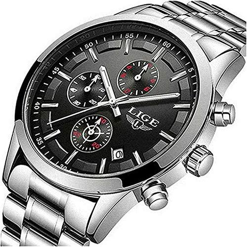 LIGE Men Watches Luxury Business Fashion Watches ...