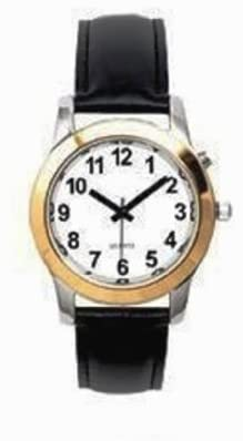 Men's Deluxe Talking Wrist Watch Two Tone for the...