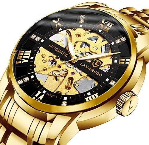 Men's Watch Mechanical Stainless Steel Skeleton W...