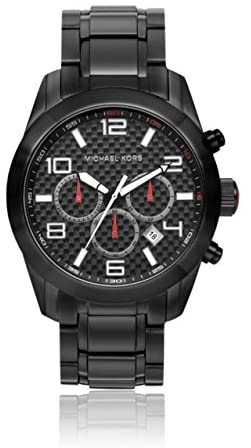 Michael Kors Dash Chronograph Black Ion-plated Me...
