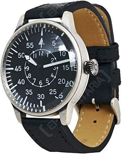 Mil-Tec Vintage Aviator Watch Black Dial Flieger ...