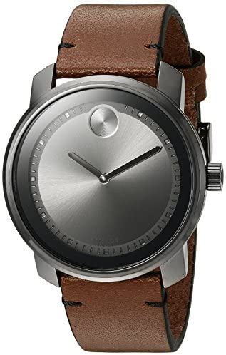 Movado Men's Swiss Quartz Stainless Steel and Bro...