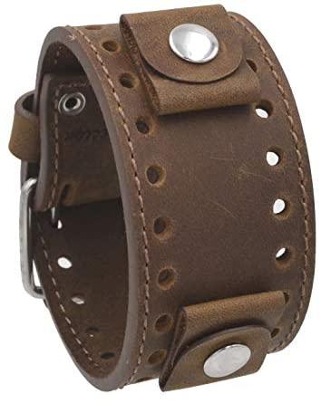 REV Crazy Horse Leather Strap 20mm -22mm Lug Widt...