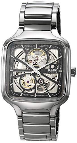 Rado True Square Swiss Automatic Watch with Ceram...