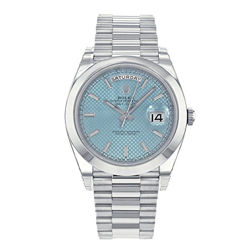 Rolex Day-Date Automatic Ice Blue Dial Platinum M...