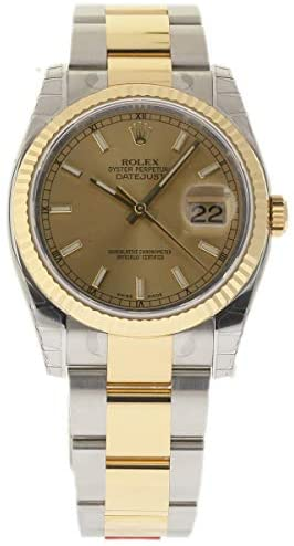 Rolex New Datejust 36mm 116233 Steel Gold Champag...