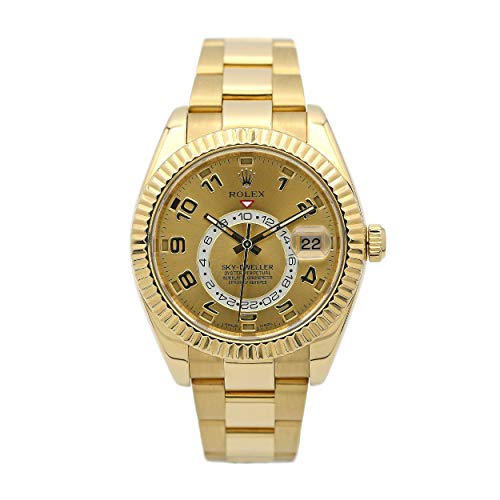 Rolex New Sky-Dweller 326938 42mm Gold Engraved 2...