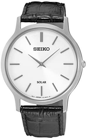 Seiko Men's Acciaio INOX Quartz Watch with Leathe...