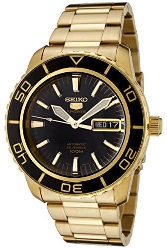 Seiko Men's SNZH60 Seiko 5 Automatic Black Dial G...