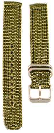 Seiko Military Automatic Olive Green Nylon 18mm W...