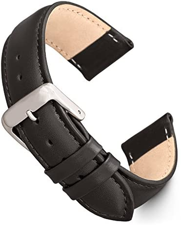 Speidel Genuine Leather Watch Band Black and Brow...