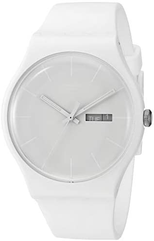 Swatch Unisex SUOW701 Quartz Plastic White Dial W...