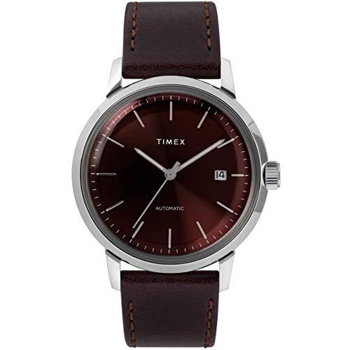 Timex Marlin 40mm Automatic Burgundy Silver