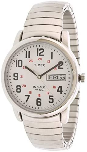 Timex Men's Easy Reader T2N091 Silver Stainless-S...