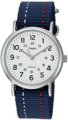 Timex Unisex TW2R107009J Weekender Blue Denim Red...
