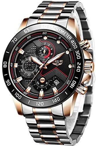 Watches Men Luxury Brand LIGE Chronograph Men Spo...