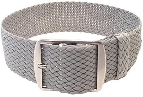 Wrist And Style Perlon Watch Strap (24mm, Light G...
