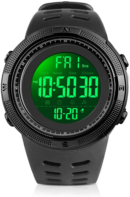 YEENIK Men's Digital Watch, Led Military 50M Wate...