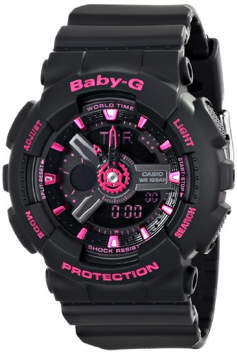 Casio Women's BA-111-1ACR Baby-G Analog-Digital D...